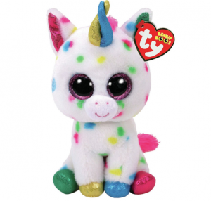 adorable unicornio de peluche multicolor