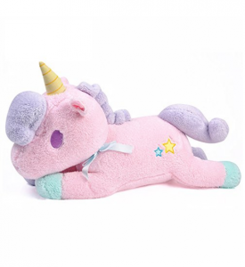 unicornio adorable acostado